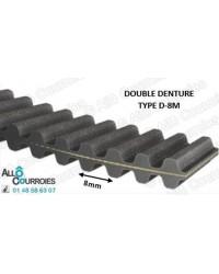 Courroie Double Dentée 640 D8M