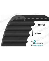 Courroie Simple Dentée 285L-50