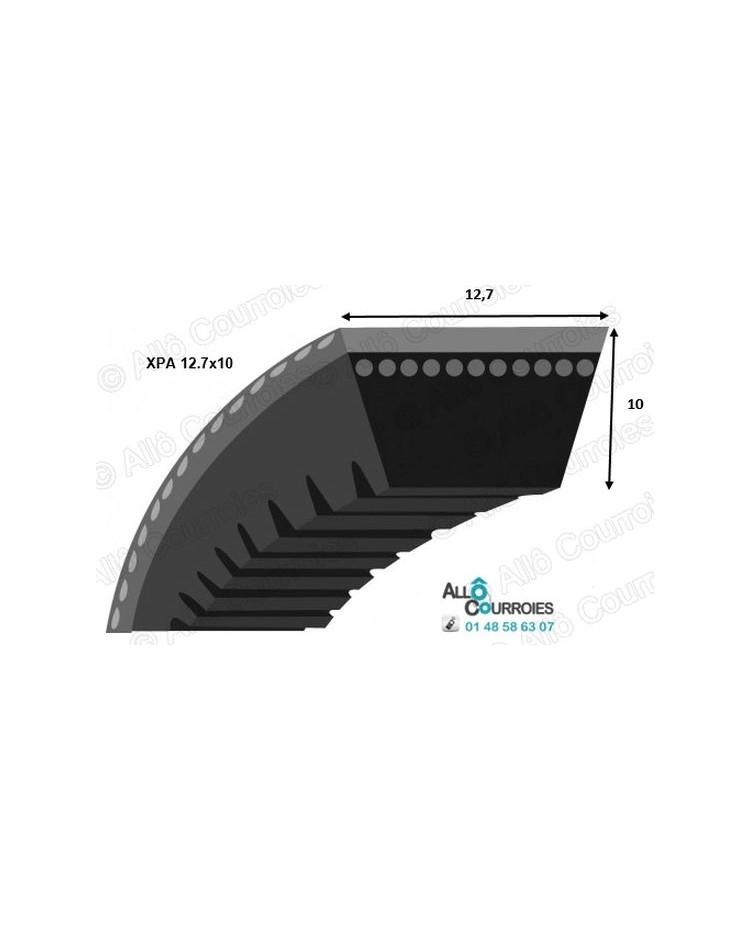 12,7 x 10 x 2150 mm Courroie trap/ézo/ïdale XPA 2150