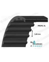 Courroie Simple Dentée 168-XLTB-031