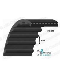Courroie Simple Dentée 8M5600-25 acier soudé