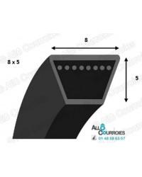 Courroie Trapézoidale Lisse 8 X 1000 Li