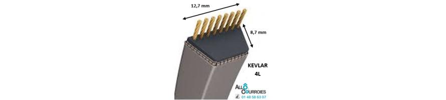 Courroie trapézoïdale Kevlar 4L 12.7x8.7mm | Allocourroies.com