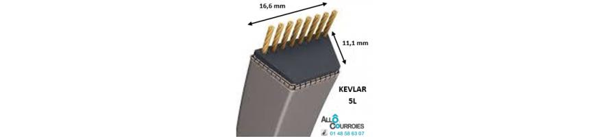 Courroie trapézoïdale Kevlar 5L 16.6x11.1 mm