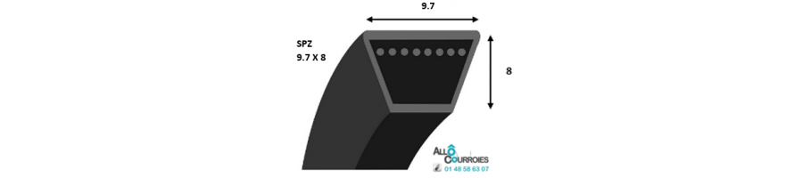 COURROIE TRAPEZOIDALE PROFIL SPZ | Allocourroies.com
