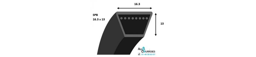 Courroie trapezoidale lisse PROFIL SPB (16,3x13mm)| Allocourroies.com