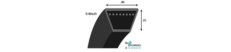 Profil E 40x25mm