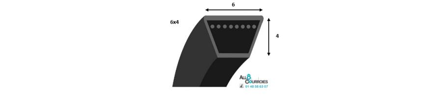 Courroie trapezoidale lisse PROFIL 6 (6 x 4 mm) | Allocourroies.com