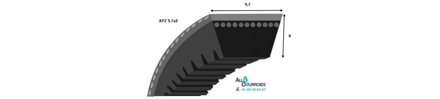 Courroie trapezoidale crantée XPZ (9.7x8mm) | Allocourroies.com