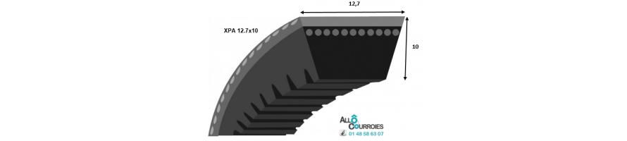 Courroie trapezoidale crantée profil XPA 12.7x10 mm| Allocourroies.com