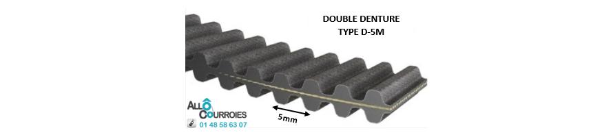 Courroie double dentée D5M | Allocourroies.com