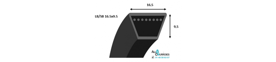 Profil LB/SB 16.5x9.5mm