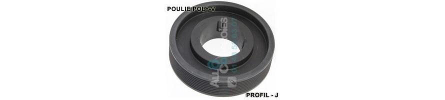 Poulie poly-v striée profil J   Allocourroies