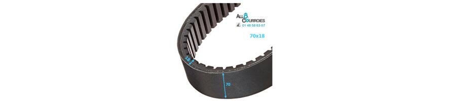 Courroie de variateur 70x18 | Allocourroies.com