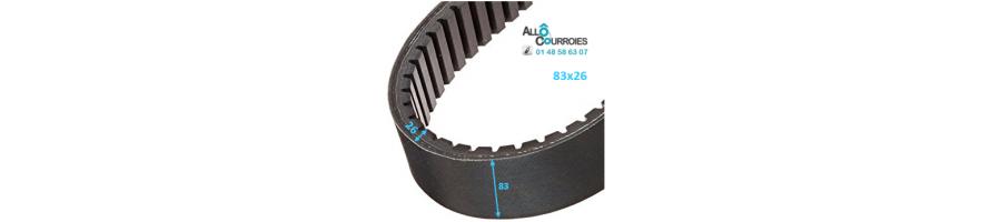Courroie de variateur 83x26 | Allocourroies.com
