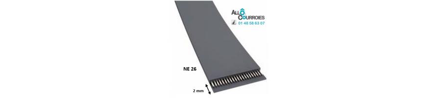 Courroie Plate NE26