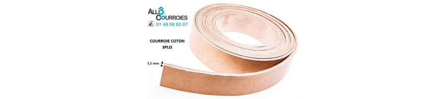 Courroies Plates Coton Type 3 Plis