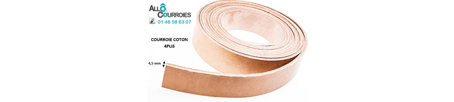 Courroies plates Coton Type 4 Plis | Allocourroies.com