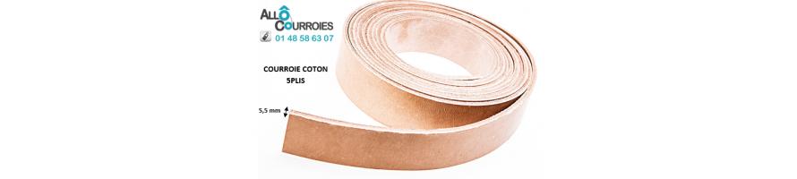Courroies Plates Coton Type 5 Plis